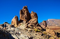 ´Roque Cinchado´. ´Roques de Garcia.´ Teide National Park. Tenerife. Canary Islands. Spain.
