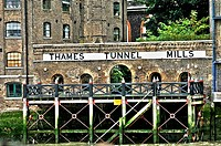 Thames tunnel mills, the first tunnel of the modern age, and the first under the Thames. Bank of the River Thames, London, England, Europe