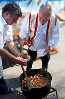 Birka porkolt  Beef Porkolt from Karcag  Paprika food festival  Kalocsa, Hungary