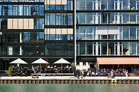 Germany, Muenster, Westphalia, Muensterland, North Rhine-Westphalia, city port, creative quay, office buildings