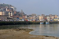 the port, Le Treport, Seine-Maritime department, Haute-Normandie region, northern France, Europe