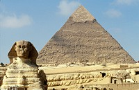 Egypt,Giza, the Sphinx and the Great Pyramid ...