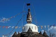 Nepal, Katmandu, Kirtipur stupa ...