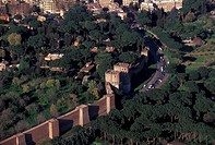Italy, Rome, aerial view of city walls                                                                                                                ...