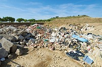 landfill in a nature place, Tierz, Huesca, Aragon, Spain