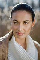 Close_up portrait of a confident young woman