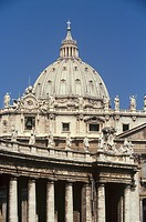 Italy,Rome, The Vatican, Saint Peter´s Basilica detail of the dome                                                                                    ...
