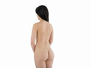 Nude young woman, rear view
