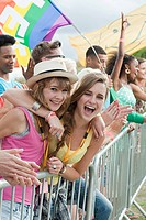 Teenage girls at festival (thumbnail)