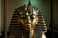 Africa, Egypt, Cairo, the mask of the Pharaon Tutankamon                                                                                              ...
