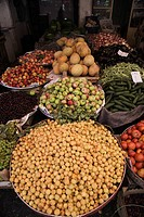 Turkey, Mardin, the old bazaar, fruit and vegetables                                                                                                  ...