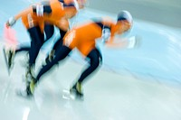 Speedskaters in action                                                                                                                                ...