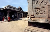 Ramachandra temple in Hampi, Karnataka, also called Hazara Rama 'One thousand Ramas', was built in the 1420s by the great king in the name of Devaraya...