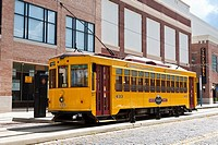 Ybor City, FL - July 2009 - TECO Line streetcar in Ybor City area of Tampa, Florida
