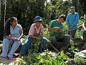 BOLIVIA Visiting the farm of Wilfredo Castro, his wife Vicencia Choque and uncle Manuel Villalobes in Colonia 7 Estrellas, near Caranavi  They are exe...