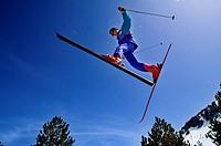 Ski resort of Ordino Arcalis  Vallnord  ANDORRA.