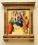 Madonna and Child Enthroned with Saints Mary Magdalen and John the Baptist, ca  1510–15, by Giuliano di Piero di Simone Bugiardini Italian, Florence 1...