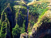 Waterfall Nuku Hiva-Marquesas Islands French Polynesian