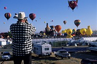 Usa, North America, New Mexico, Albuquerque, balloon festival