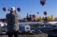 Usa, North America, New Mexico, Albuquerque, balloon festival