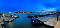 Panoramic Night in Venice, Italy
