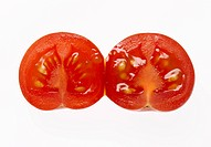 Two Halves of a Cherry Tomato