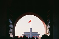 China,Beijing, Mao Zedongs memorial vied from the palza of Tianenmen