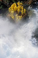 Canada, Ontario, Niagara Falls tourist under spray