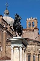 Italy, Veneto, Venice, Castello Quarter, San Giovanni e Paolo Square, Colleoni Monument.