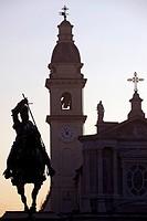 Italy, Piedmont, Turin, Piazza San Carlo, Emanuele Filiberto Statute.
