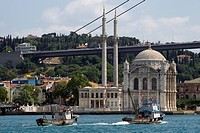 Turkey, Istanbul, Bosphorus European Side, Ortakoy Mosque