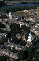 USA Massachusetts Harvard university from the air