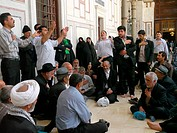 SYRIA  Inside the Ummayad Mosque, Damascus  Iranian pilgrims taking time for prayer and reflection