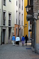 Ladies walking the streets of Llanes, Asturias