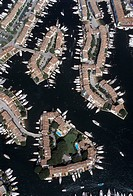 France, French Riviera Port Grimaud aerial view