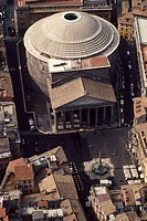 Italy, Rome. Pantheon aerial view