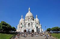 France, Paris, Montmartre, Basilique de Sacre Coeur
