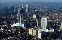Indonesia, Jakarta aerial view