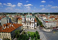 Church of St Nicholas by Old Town Square in Prague Czech Republic