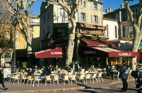 France, Provence, Aix_en_Provence, bistrot in the town center