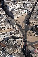 Italy, Apulia, Ostuni aerial view