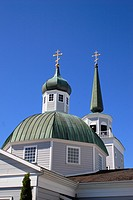 Saint Michael´s Russian orthodox church cathedral , Lincoln street , Sitka , Alaska , U.S.A. United States of America