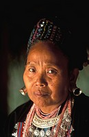 Thailand. Chiang Rai. Golden Triangle Hmong Hilltribe. Hmong woman