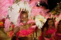 Brazil, Rio De Janeiro, Carnival of Rio, women at parade