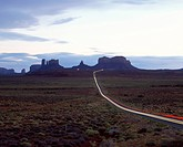 USA, Arizona, Monument Valley Navajo Tribal Park. scenic Byway 163, leading into Monument Valley