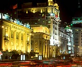 China, Shanghai, the Bund at night