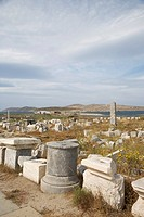 Greece, Cyclades Islands, Delos, ruins.