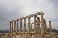 Greece, Cape Sounion, Temple of Poseidon
