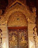A door of Wat Phra Singh, Chiang Mai,Thailand.