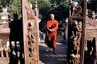 Myanmar Burma, Mandalay, buddhist monk